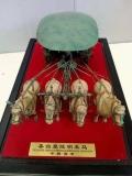 學術交流會議紀念禮品銅車馬桌擺