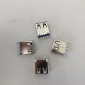USB 2.0 A母卷邊H=13.7 白膠