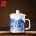 茶杯陶瓷带盖过滤泡茶杯办公室水杯家用瓷杯景德镇