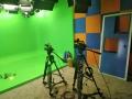 多功能虚拟直播间建设 校园超高清演播室蓝箱装修