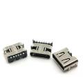 TYPE-C6P貼片母座四腳板上型插板帶彈片 單充電