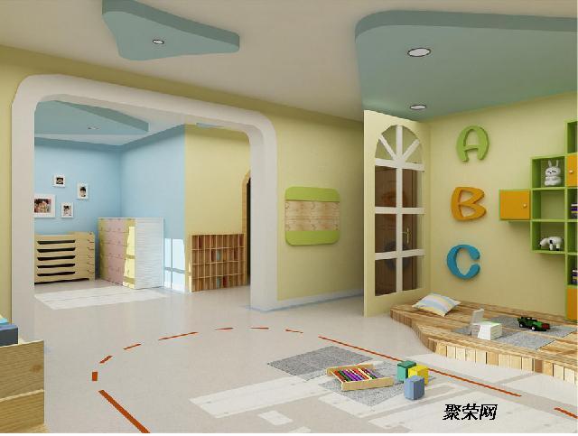 渝中区早教幼儿园装修 幼儿早教学校装修设计 重庆爱港装饰