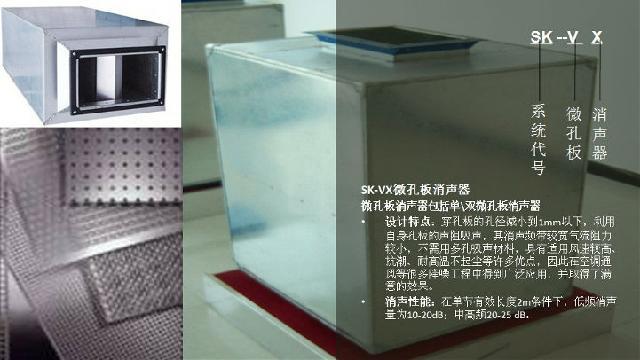 2,微孔板消声器采用金属结构,构造简单,体积小,防火.