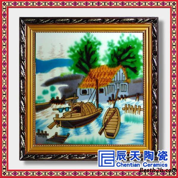 欧式创意精美瓷板画,定做瓷板手绘画 房间装饰画