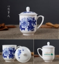 功夫茶杯陶瓷手繪粉彩人物茶杯純白吉祥杯高檔骨瓷杯商務