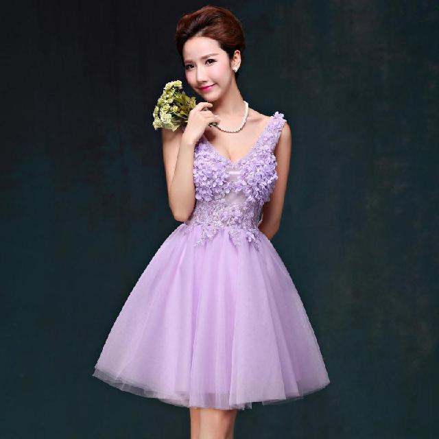 娘宴会晚装小短裙晚礼服服