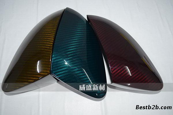 碳纤维后视镜外壳_彩色碳纤维后视镜外壳