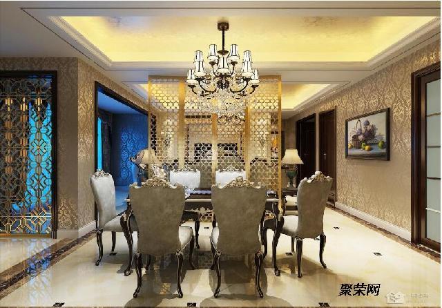 125平米 设计师:许朝敏 装修费用:16万 设计风格:欧式古典 客餐厅一体
