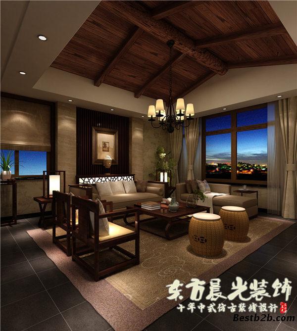 手机验证供应简约中式客厅装修效果图-中式古典装修风格