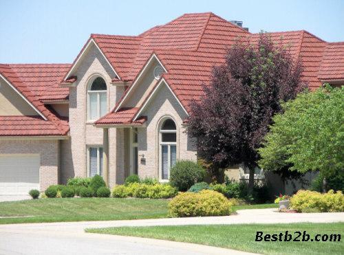外形美观:有欧式和中式两种瓦型,铺装后能使建筑屋面有流畅的曲线感