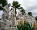 石雕二十四孝人物雕刻 石雕福祿壽 石材濟公雕像廠
