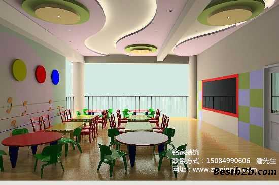 湖南长沙芙蓉区幼儿园大厅装修设计,幼儿园外部装修设计找长沙铭