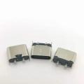 TYPE-C2p直插母座180度簡易款立式插板黑膠芯