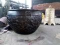 唐縣鑄銅雕塑定制鑄銅大水缸寺廟銅缸