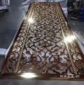 高檔銅藝雕刻鏤空屏風不銹鋼屏風無指紋鋁板