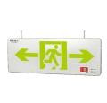 敏華應急中型超薄不銹鋼雙面吊線式標志燈