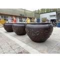 青銅大水缸 訂做1米銅缸擺件 庭院大銅缸 祥獅雕塑