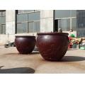 養荷花銅缸1米銅雕鑄銅缸生產定做鑄銅雕塑