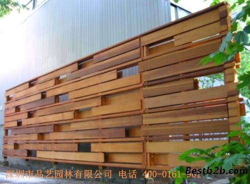 供应丰胜花园木进口芬兰木围栏户外木木制护栏 品艺园林