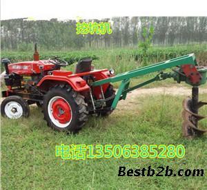 拖拉机带动的挖坑机 挖坑机报价