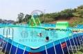 移动支架水池充气水滑梯厂家教学游泳方便快捷
