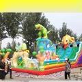 桂林市集市擺攤的兒童充氣蹦床滑梯更多款式支持來圖定制