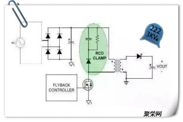 开关电源一般采用rc,rcd等吸收电路,吸收电容常常选用高压陶瓷电容