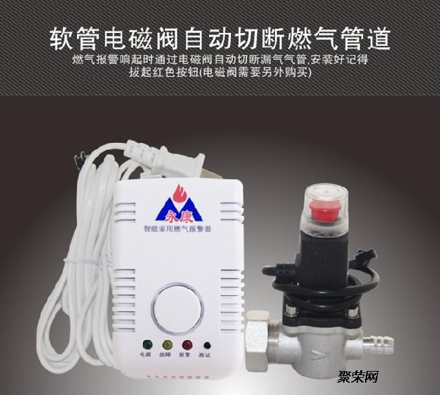 家用燃气报警器带天然气 钢瓶软管电磁阀