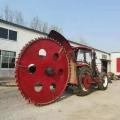 大型道路圓盤開溝機 混凝土路面挖溝機 四輪車帶圓盤式