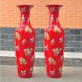厂家定制景德陶瓷落地大花瓶 1.8米陶瓷青花大花瓶