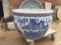 景德镇陶瓷大缸金鱼荷花缸特大号1.2米家用庭院大缸