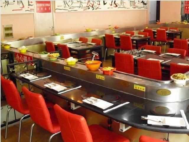 手机验证自助麻辣烫旋转小火锅设备 回转火锅设备 回转火锅寿司