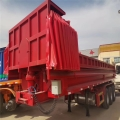 60公分箱板9米長后翻自卸半掛車