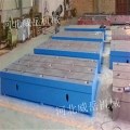 焊接平臺鑄鐵的質量與澆注灌漿有關系