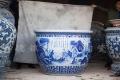 景德镇陶瓷大缸养金鱼荷花缸特大号家用庭院风水大缸