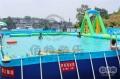 暑假教学游泳嬉水移动支架水池厂家可定做价格亲民