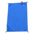 厂家跨境货 防水格子布沙滩垫 210t防潮垫口袋毯便携野餐垫