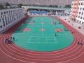 湖南邵陽塑膠跑道 丙烯酸球場材料 硅PU球場包工包料
