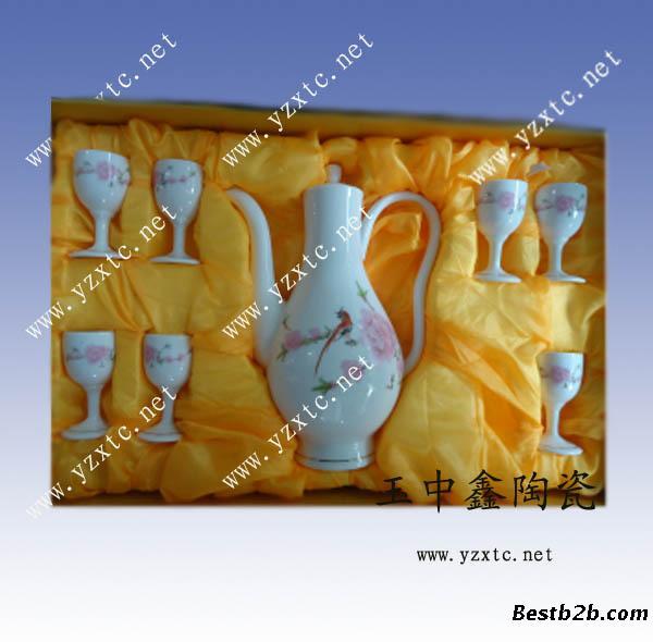 手绘陶瓷酒具 陶瓷酒具生产厂 酒具定制