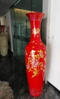 西安紅瓷花瓶搬家喬遷開業擺件