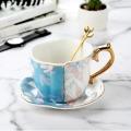 陶瓷辦公杯三件套筆筒煙灰缸定制會議蓋杯禮品杯子陶瓷水
