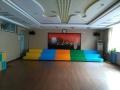 音乐教室用彩色木质伸缩合唱台