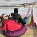 滿足各類人群的游樂需求 彩虹滑道方案 高坡滑道