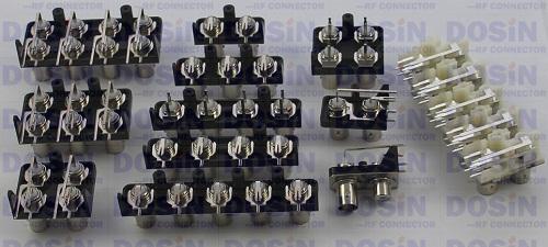 bnc多孔视频连接器,天线些列antenna,i-pex端子接线插座.