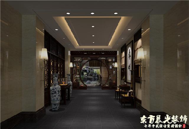 建筑建材 建筑装璜设计     中式四合院室内设计采用耐磨的高档地砖图片