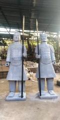 西安一米七兵馬俑擺件,西安銅兵馬俑,陜西特色銅俑