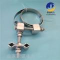 電線桿緊固夾具OPGW光纜桿用引下線夾 鋼帶金具
