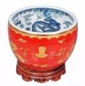 景德鎮陶瓷大師姜建萍打造毛主席紅井圣水好運缸