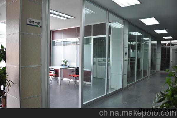 单人办公室红门家具效果图
