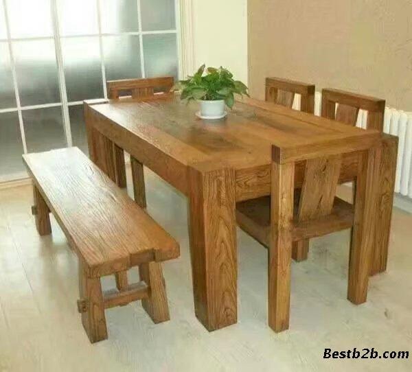 日照莒县哪里订做老榆木餐桌